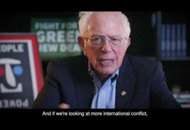 Senator Bernie Sanders: Climate Change is the Existential Threat to Our Planet