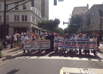 After First Day of Historic Voting Rights Trial, Over Six Thousand March Through Winston-Salem for Mass Moral Monday