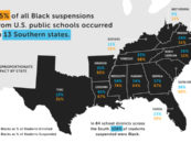 Black Students Disproportionately Suspended and Expelled from Schools in the South
