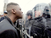 Should Protesters Be Allowed to Taunt Police Officers?
