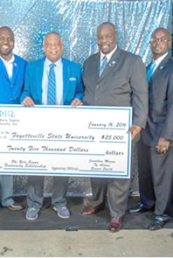 Phi Beta Sigma Donates $25,000 to Fayetteville State University
