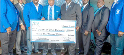 Phi Beta Sigma Donates $25,000 to Fayetteville State University