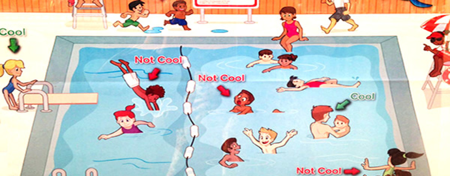 """Red Cross Apologizes for """"Racist"""" Pool Safety Poster That Depicts Mostly Black Children Misbehaving"""