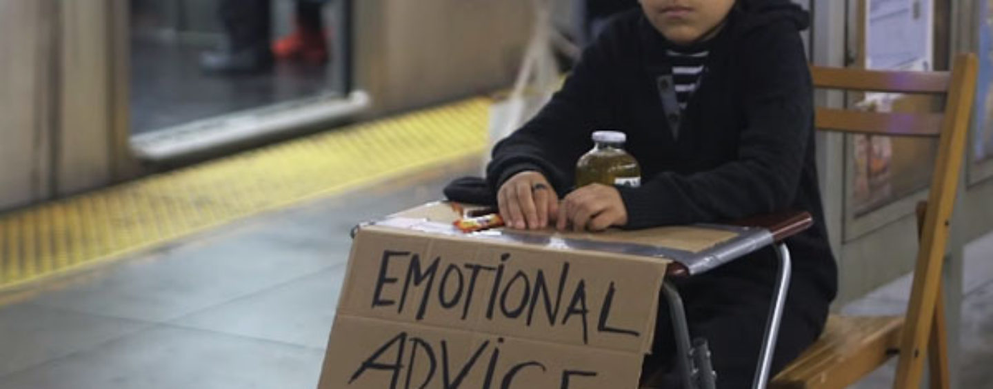 11-Year Old Selling Five Minutes of Emotional Advice for $2