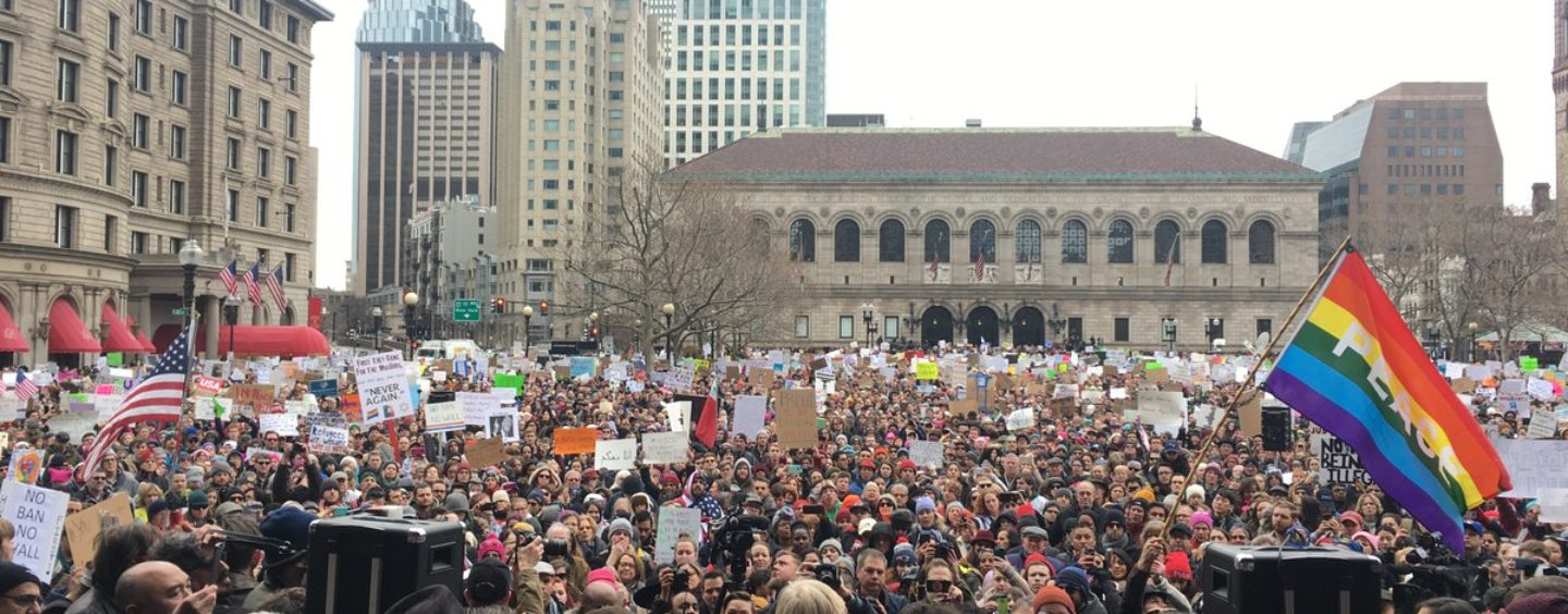 Thousands Stand In Solidarity With Muslims And Refugees