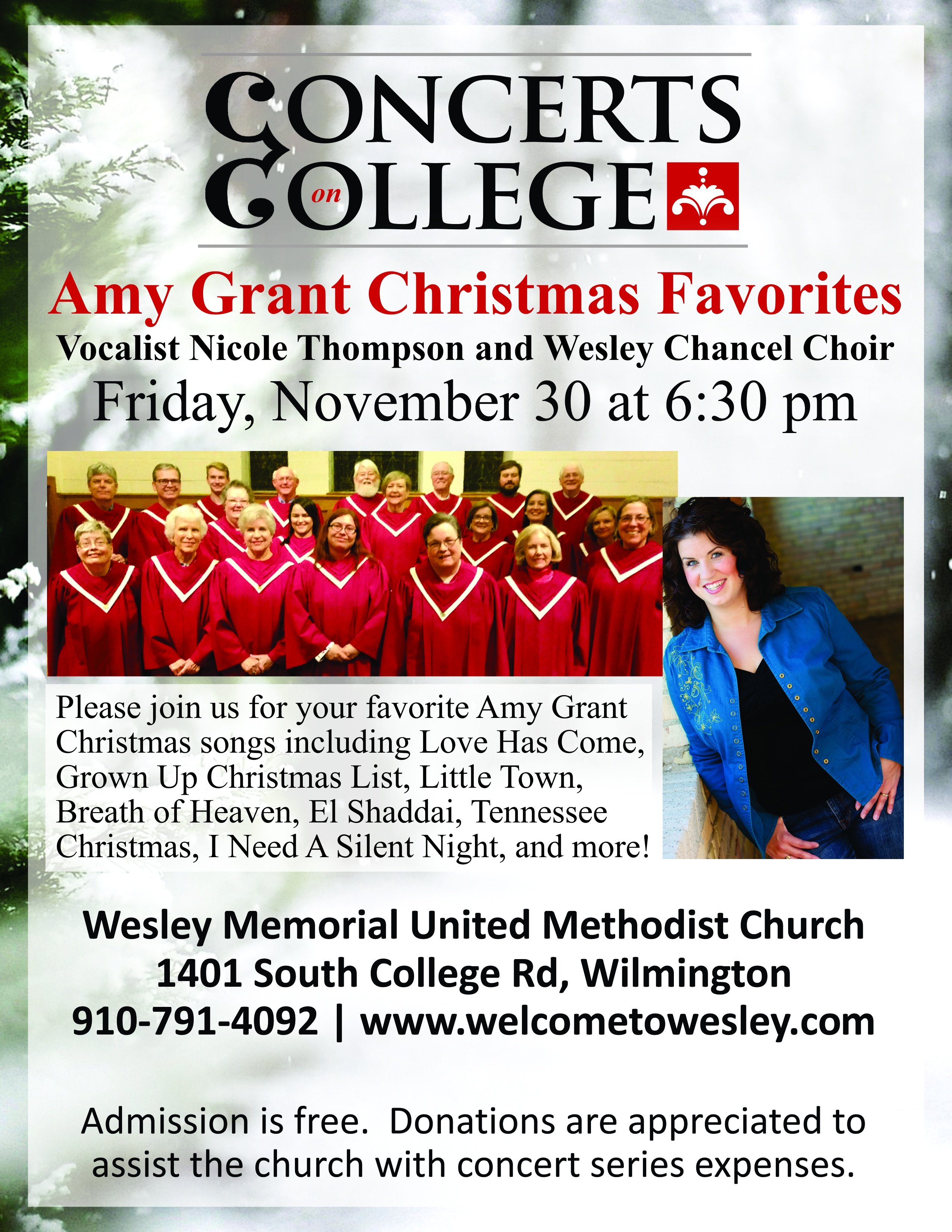 Concerts on College: Amy Grant Christmas Favorites