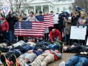 At White House Lie-In, Teens Call on Congress to 'Protect Kids, Not Guns'