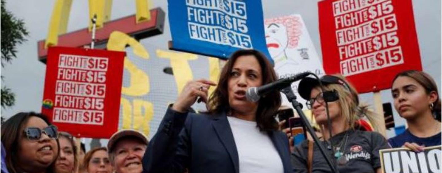 Kamala Harris Visits Las Vegas McDonald's to Protest With Workers