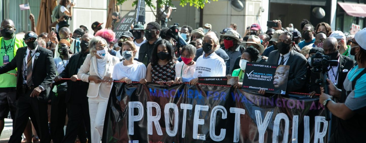 Thousands March on For Voting Rights, D.C. Statehood