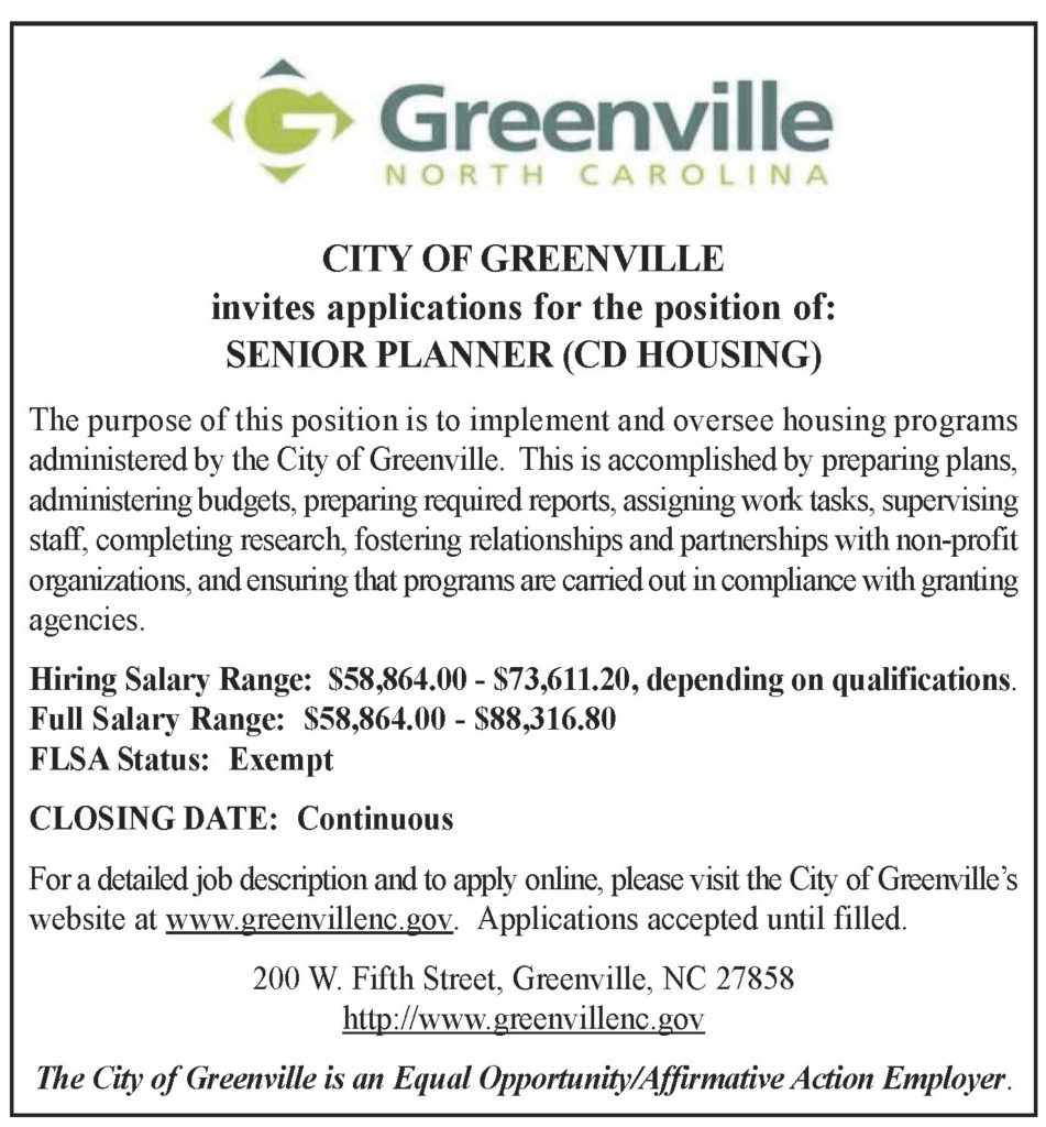 Senior Planner (CD Housing) Greater Diversity News SPCH Display Ad Page 4  951x1024 Senior Planner Cd Housing Salary Application Format Planner Page