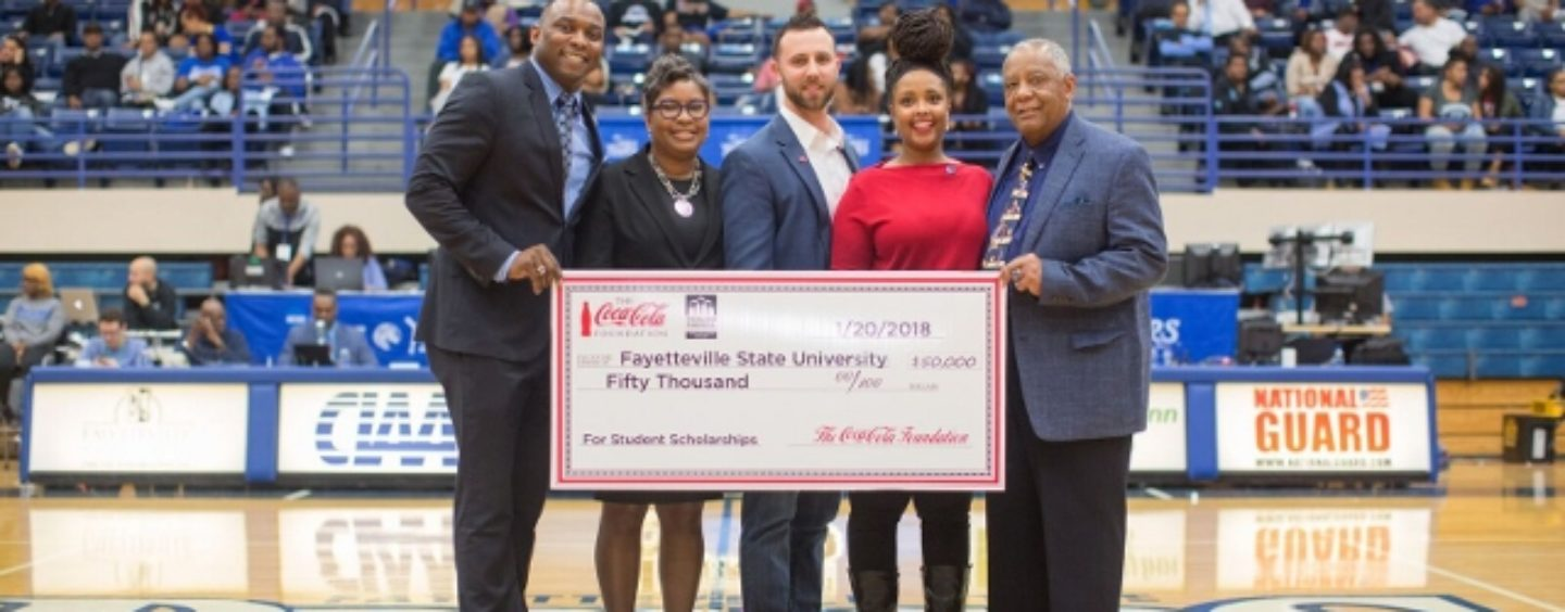 Thurgood Marshall College Fund and The Coca-Cola Foundation Donate $50,000 to Fayetteville State University for Scholarships