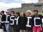 """On Fourth of July, Statue of Liberty Protesters Declare: """"Abolish ICE"""""""