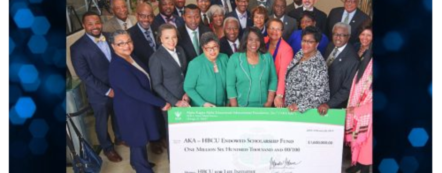 AKA Raises $1 Million for HBCUs in One Day, Announces Collaboration with the Black Press of America