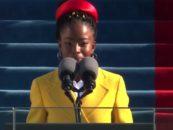 African American Poet Laureate Amanda Gorman Performs at Inauguration