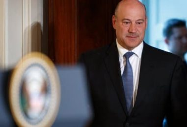 Gary Cohn Calls It Quits After Massive Tax Cuts for Wealthy Friends and Corporate Raiders