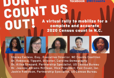 2020 Don't Count Us Out! Virtual Rally to Mobilize for a Fair Census