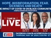 Doctors Livestream to Discuss Impact of COVID-19 on Black America