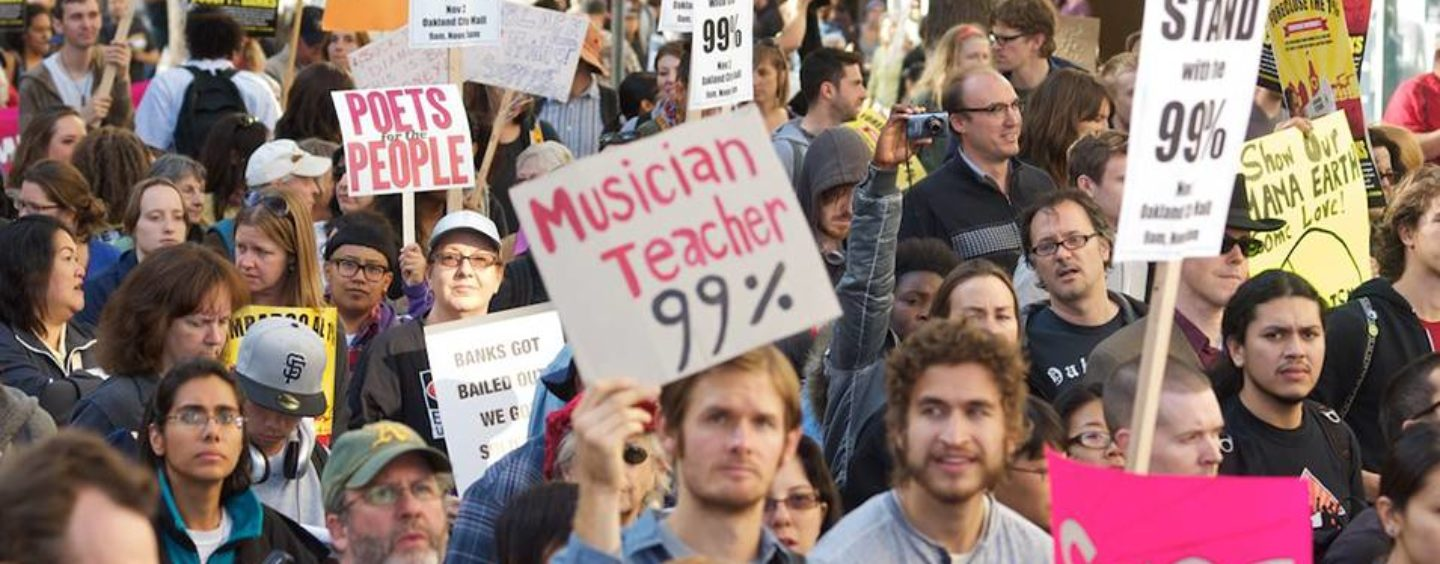 We are the 99 Percent, But Richest One Percent Will Soon Own Two-Thirds Of World's Wealth